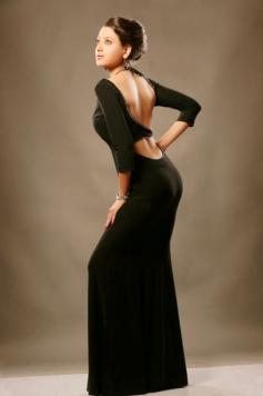 Madalasa Sharma in Black Dress