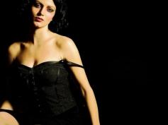 Yana Gupta in Black Dress