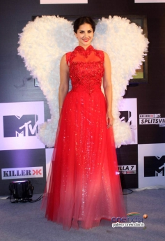 Sunny Leone at press conference of MTV Splits Villa
