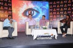 Thyagaraj Ravichandr, Abhishek Rage, Sudhindra Bharadwaj, Sudeep at Bigg Boss season 2 Press Meet