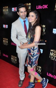 Varun Dhawan and Alia Bhatt at Life Ok Now Awards 2014