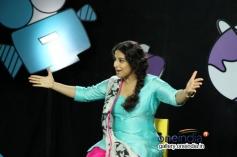 Vidya Balan on the sets of Disney's Talk Show Captain Tiao