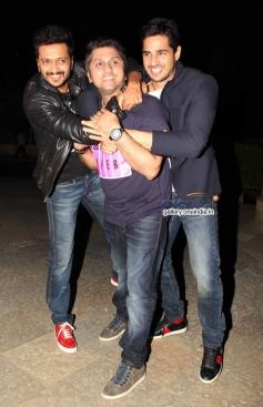 Mohit Suri, Riteish Deshmukh and Sidharth Malhotra