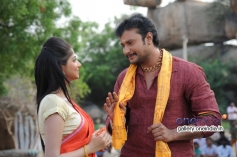 Rachita Ram and Darshan in Kannada Movie Ambareesha