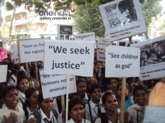 Vasavi students protest against rape in Bangalore