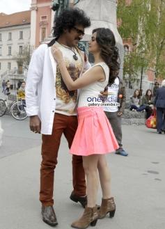 Upendra and Kriti Kharbanda in Kannada Movie Super Ranga