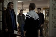 Liam Neeson, Dan Stevens and Eric Nelsen
