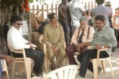 Rajinikanth, Manobala and K. S. Ravikumar