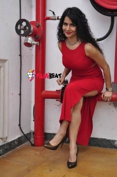 Ritu in Red Outfit