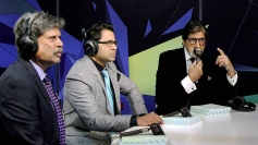 Kapil Dev, Akash Chopra and Amitabh Bachchan