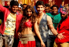 Aindrita Ray & Diganth in Sharp Shoooter Song Shooting