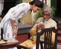 Amitabh Bachchan & Deepika Padukone in Piku