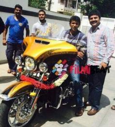Puneeth Rajkumar with his New Bike