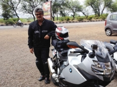 Ajith With His BMW K 1300