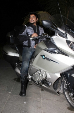 Madhavan With His BMW Bike
