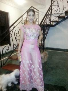 Tanishaa Makes a Stylish Appearance at theLFW 2015
