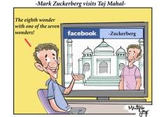 Mark Zuckerberg visits Taj Mahal