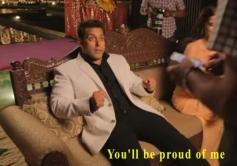 Salman Khan on the set of Prem Ratan Dhan Payo