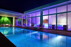 Swimming Pool During Night