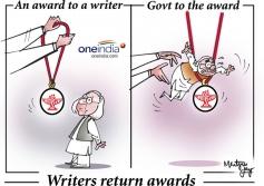 Writers return awards