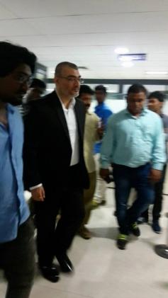 Ajith Kumar Snapped At Passport Office