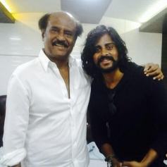 Arun Gowda with Rajinikanth