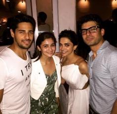 Deepika Padukone Meets Kapoor & Sons Cast