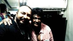 Naveen Krishna with Jaggesh
