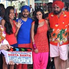 Lisa Haydon, Vir Das, & Boman Irani in Santa Banta Pvt Ltd