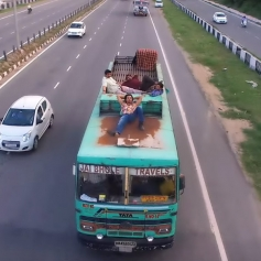 Randeep Hooda Lying on The Bus