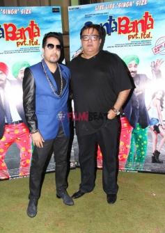 Singer Mika Singh on the set of Santa Banta Pvt Ltd