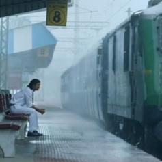 Sushanth Singh Rajput Gets wet in Rain
