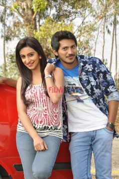 Arav Surya & Teena Ponnappa in Sri Chakram