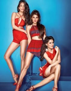 Lisay Haydon, Jacqueline Fernandez & Nargis Fakhri in Housefull 3