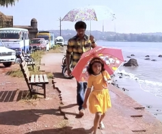 Vijay & Nainika On the Set of Theri