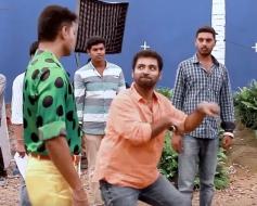 Vijay On the Set of Theri