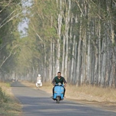 Salman Khan Driving Scooter on the set of Sultan