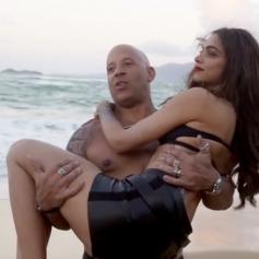 Deepika Padukone & Vin Diesel on the set of XXX : The Return Of Xander Cage