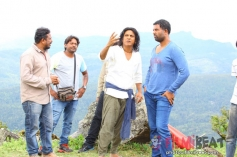 Shivaraj Kumar on the set of Santheyalli Nintha Kabira