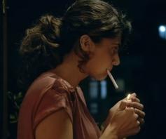 Taapsee Pannu Smoking in Pink movie