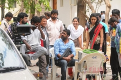 Nisabdham Movie Working Stills