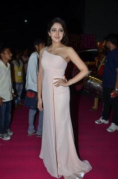 Actress Sayesha Saigal at Zee Telugu Apsara Awards 2017