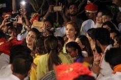 Salman Khan's Sister Arpita And Ahil Celebrate Ganpati Visarjan