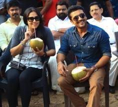 Surya & Jyothika Visits Nivin Paulys Grand Set