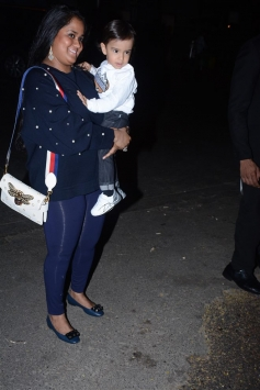 Arpita Khan Spotted With Her Son Ahil At Helen Birthday 2017