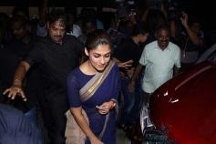 Nayantara Visits Theater For Aramm Movie Promotion