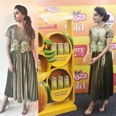 Samantha Akkineni At Launch Of Maaza Gold In Bangalore