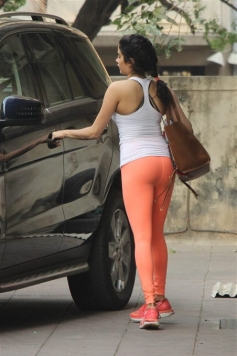 Jhanvi Kapoor Spotted At Gym