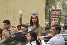 Manushi Chhillar During Parade Show At DRDO Complex Timarpur In Delhi