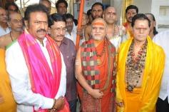 Dr M.Mohan Babu Taking Oath As Chairman Of Film Nagar Daiva Sannidhanam